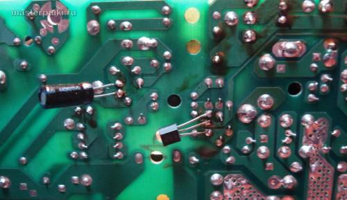 навесная пайка подозрительных элементов блока питания SPX-6500P1Z сервера GS-SR125E