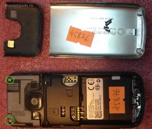 откручиваем болты Nokia 6700