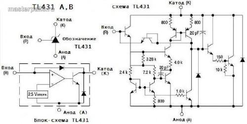 схема регулируемого стабилизатора TL431 для D-Link JTA0303E-E