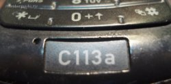 шильдик мобильного телефона Motorola C113A
