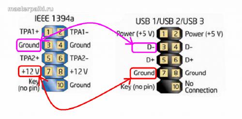 замыкание IEEE1394 и USB у сотового телефона Nokia С6-01.3(RM-718)