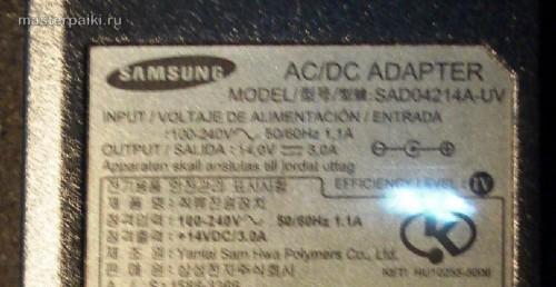 блок питания SAD04214A монитора Samsung 960BF