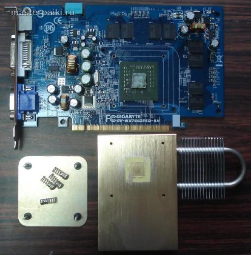 Как снять охлаждение GeForce 7600GS
