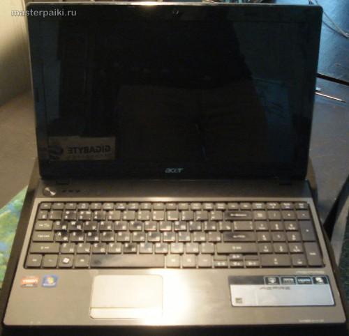 внешний вид ноутбука Acer Aspire 5551 после ремонта