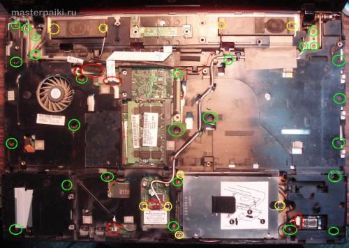 откручиваем лишнее HP ProBook 4510s