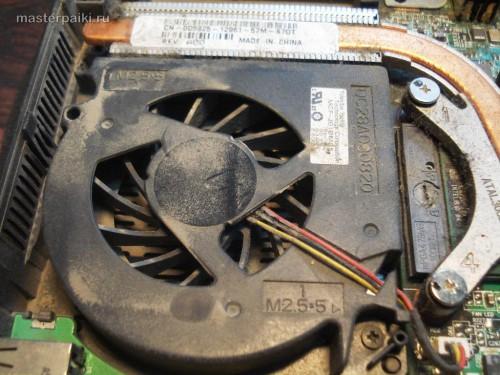 пыльное охлаждение процессора Dell Inspiron 9300