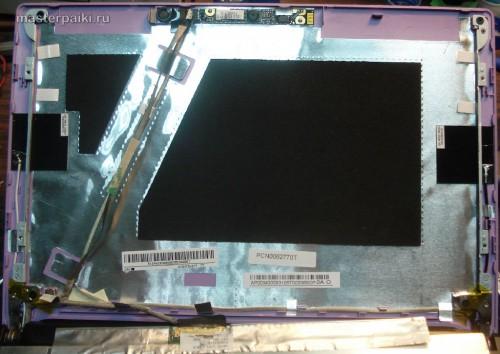 вид изнутри на крышку нетбука Acer Aspire One D260