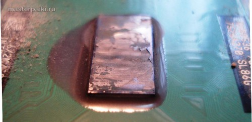 Засохшая термопаста процессора Dell Inspiron 9300