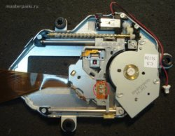 блок оптики с обратой стороны портативного DVD-плеер Velas VDS-852B
