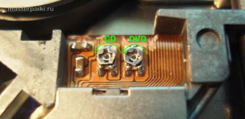 регулировочные резисторы лазеров портативного DVD-плеер Velas VDS-852B