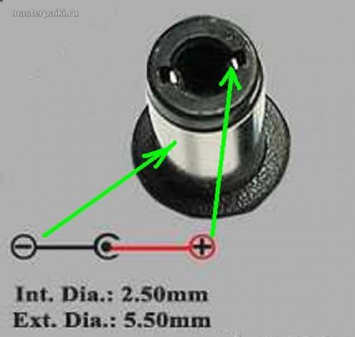 Распиновка и размеры штекера LITE-ON-PA-1900-34-AC-Adapter-Laptop