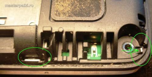 отводим зацеп сотового телефона Nokia С6-01.3(RM-718)