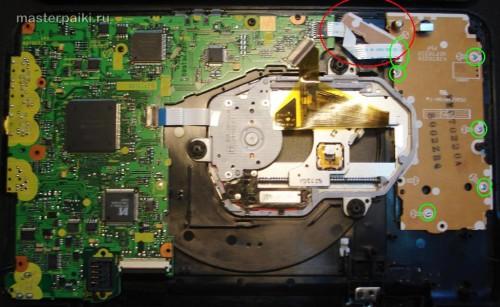 плата переносного DVD-плеера Panasonic DVD-LS83