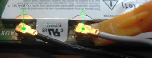 освобождаем контакты адаптера Wi-Fi ноутбука Dell Inspiron 9300