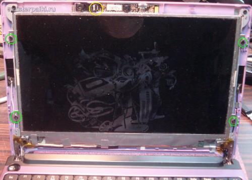 вид на матрицу нетбука Acer Aspire One D260