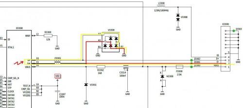 путь короткого замыкания USB сотового телефона Nokia С6-01.3(RM-718)