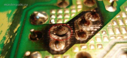 третья микротрещина блок питания SAD04214A монитора Samsung 960BF