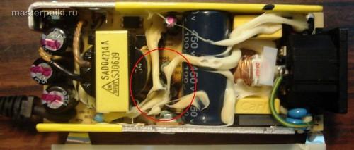 элементы блока питания SAD04214A монитора Samsung 960BF