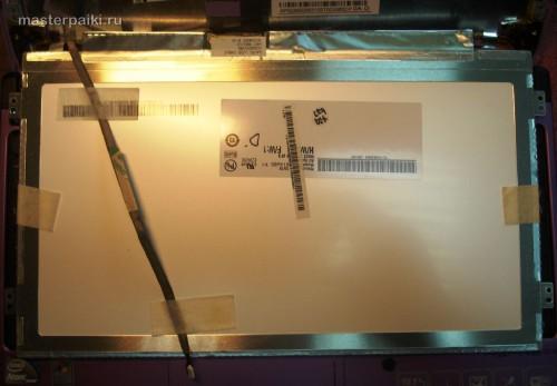вид сзади на матрицу нетбука Acer Aspire One D260