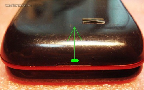 снимаем крышку сотового телефона Samsung LaFleur GT-E2530