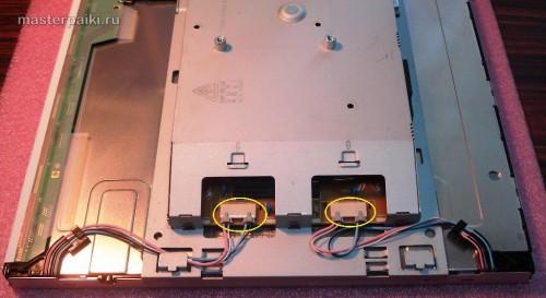 отцепляем провода ламп подсветки монитора Samsung SyncMaster 961BF