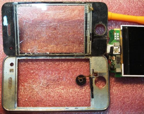 тачскрин приклеен у китайского iphone K599