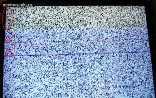 полосы на изображении ЖК-панели Samsung LE40A454C1