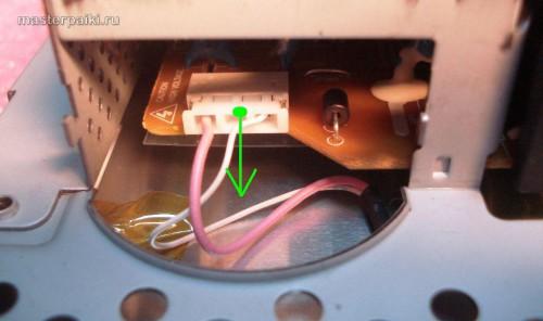 разъем ламп подсветки монитора LG L1530S