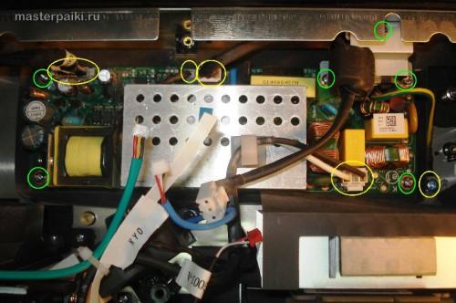 снимаем плату блока питания DLP проектора Acer DNX0811