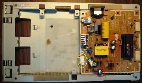 переворачиваем плату инвертора монитора Samsung SyncMaster 961BF