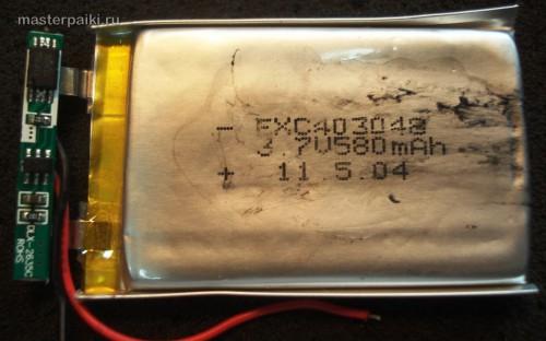 аккумулятор китайского видеорегистратора Supra SCR-650