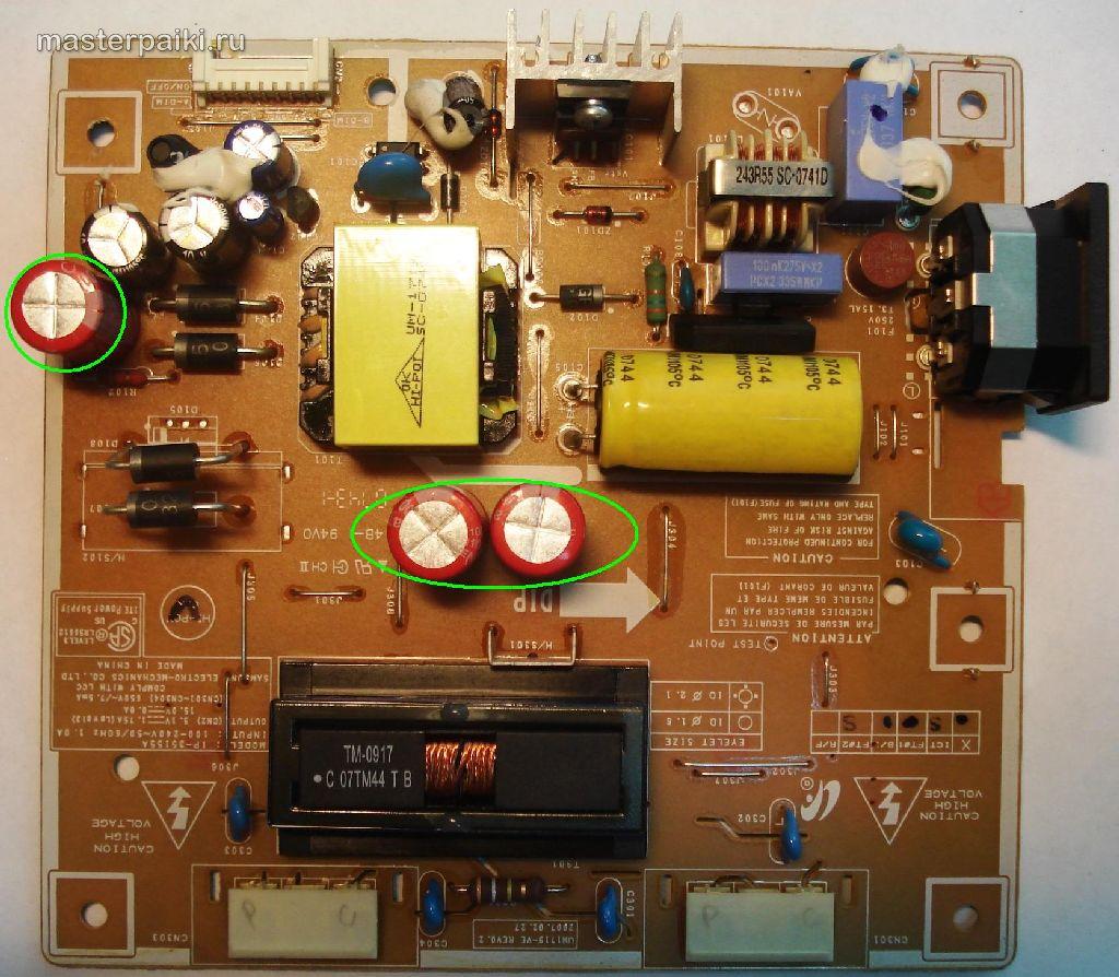 Разборка и ремонт монитора Samsung SyncMaster 961BF(замена конденсаторов)