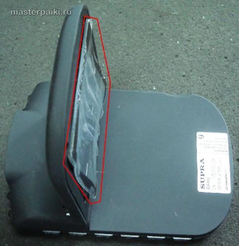 поплавленный экран китайского видеорегистратора Supra SCR-650