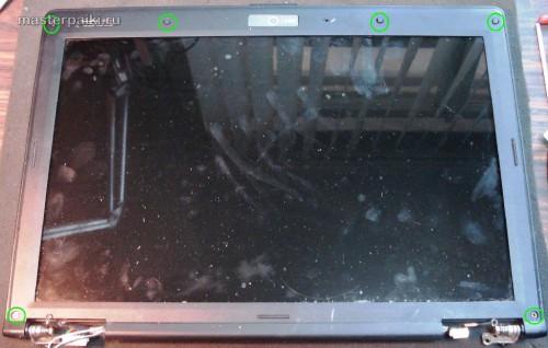 разбираем дисплей ноутбука Asus X55S