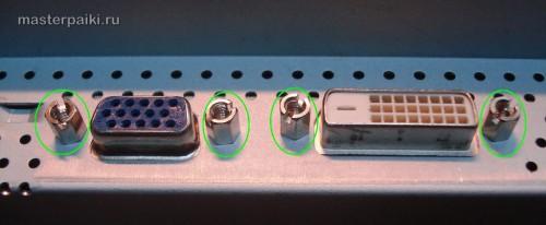крепление разъемов монитора Samsung SyncMaster 961BF