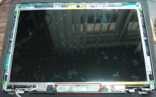 нимаем инвертор и матрицу ноутбука Asus X55S