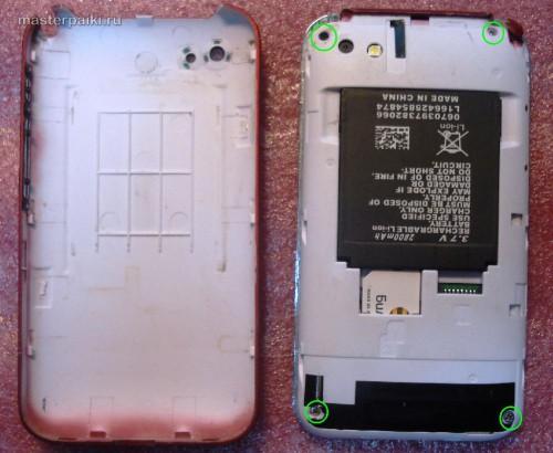 снимаем заднюю крышку китайского iphone K599