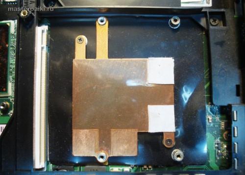 нижняя крышка видеокарты ноутбука Asus X55S