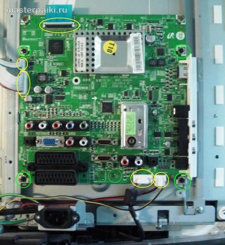 плата электроники ЖК телевизора Samsung LE40A454C1