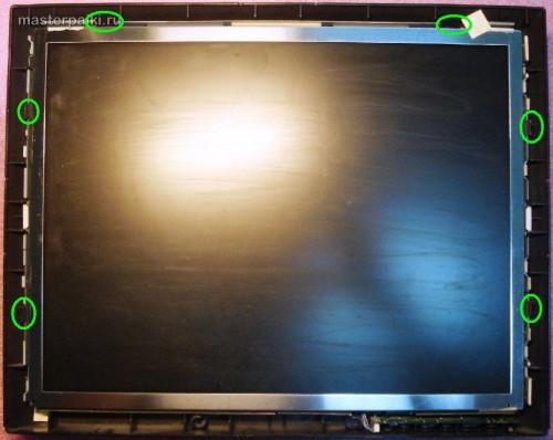 6--защелки монитора LG L1530S