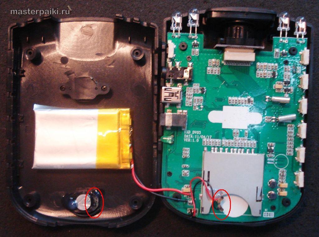 Замена аккумулятора видеорегистраторов своими руками