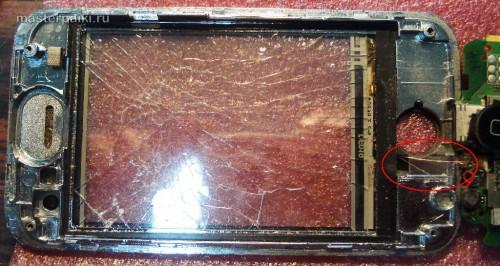 разбитый тачскрин китайского iphone K599