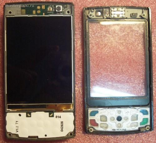 снимаем переднюю панель смартфона Nokia N95 8Gb