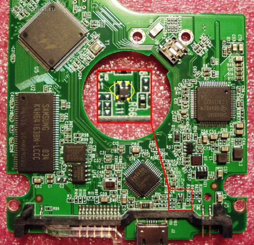 ремонт и пайка платы винчестера Western Digital 750 Гб Elements SE Portable WDBABV7500ABK