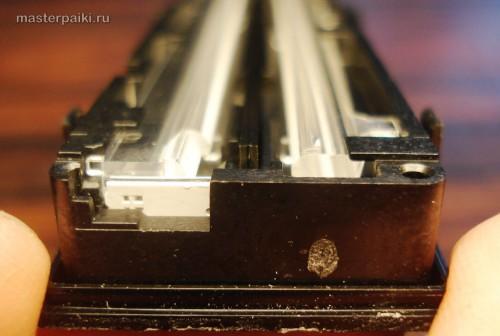 вид сбоку на блок оптики сканера Canon DR-2580C