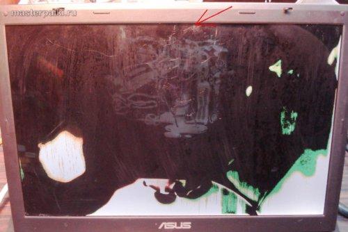 разбита матрица ноутбука Asus X51R