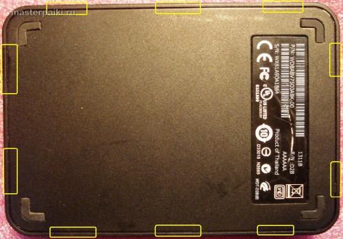 разборка и защелки винчестера Western Digital 750 Гб Elements SE Portable WDBABV7500ABK