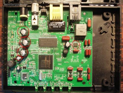 разборка модема D-link DSL-2500U