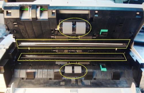 внутренности сканера Canon DR-2580C