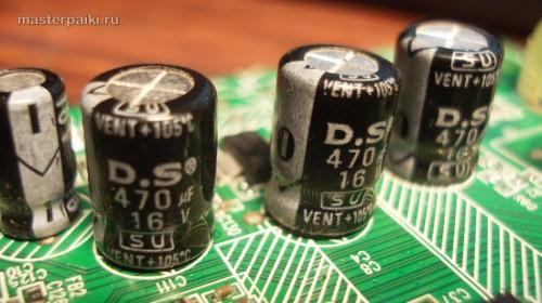 замена кондесаторов модема D-link DSL-2500U